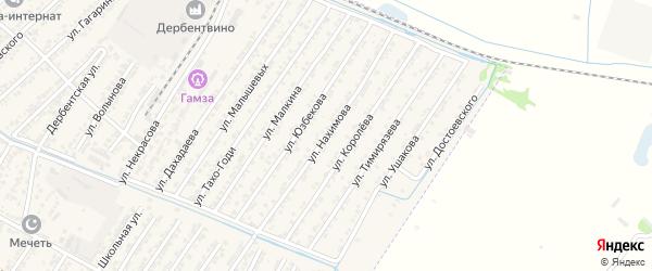 Улица Павла Степановича Нахимова на карте Дагестанских огней с номерами домов