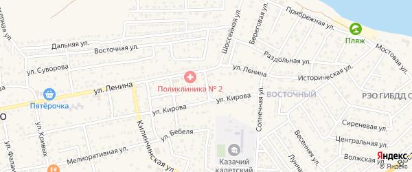 Лесная улица на карте села Началово с номерами домов