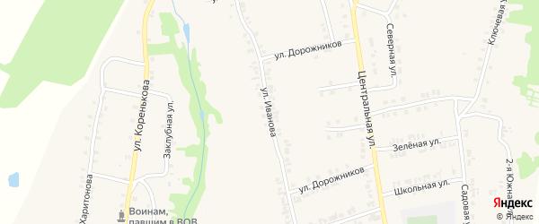 Улица Иванова на карте деревни Новой Тюрлемы с номерами домов