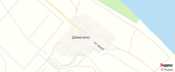 Улица Мира на карте поселка Шмагино с номерами домов