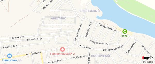 Шоссейная улица на карте села Началово с номерами домов