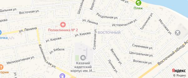 Солнечная улица на карте села Началово с номерами домов