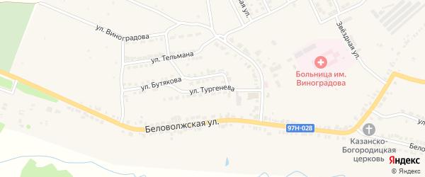 Улица Тургенева на карте Козловки с номерами домов