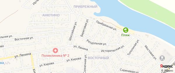 Малый переулок на карте села Началово с номерами домов
