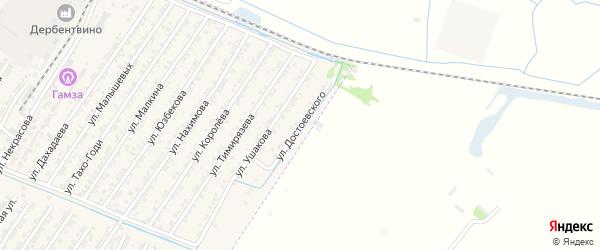 Улица Федора Михаиловича Достоевского на карте Дагестанских огней с номерами домов