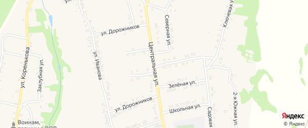 Центральная улица на карте станции Тюрлемы с номерами домов