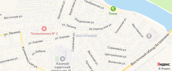 Восточный микрорайон на карте села Началово с номерами домов