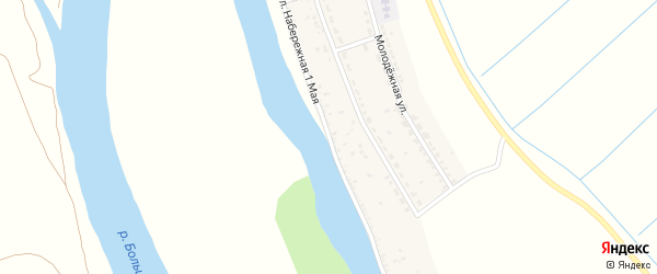 Набережная 1 Мая улица на карте села Раздора с номерами домов