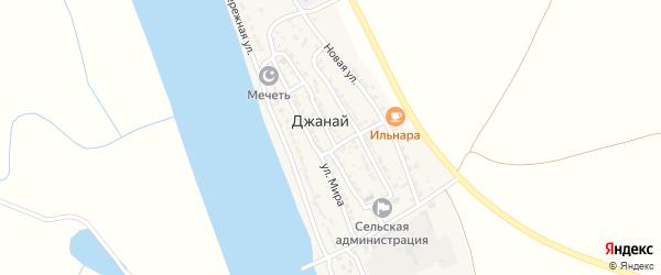 Октябрьская улица на карте села Джанай с номерами домов