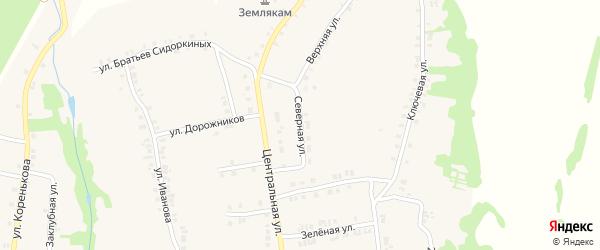Северная улица на карте станции Тюрлемы с номерами домов