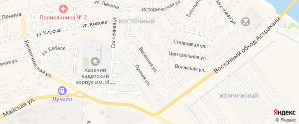 Весенняя улица на карте села Началово с номерами домов