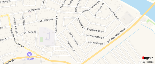 Полевая улица на карте села Началово с номерами домов