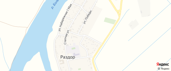 Октябрьская улица на карте села Раздора с номерами домов