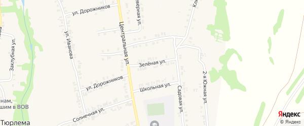 Зеленая улица на карте станции Тюрлемы с номерами домов