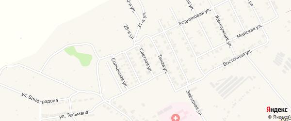 Светлая улица на карте Козловки с номерами домов