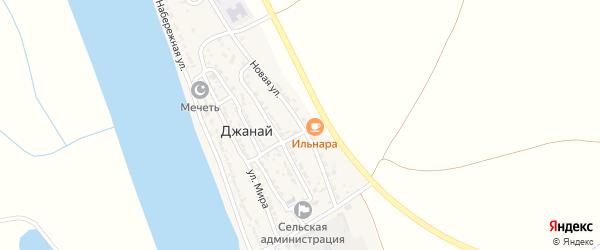 Новая улица на карте села Джанай с номерами домов
