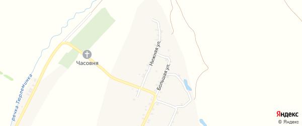 Нижняя улица на карте деревни Новой Тюрлемы с номерами домов