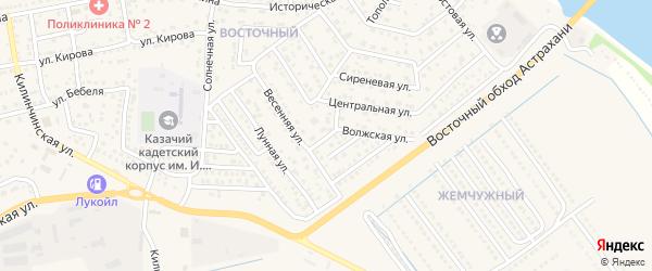 Уютный переулок на карте села Началово с номерами домов