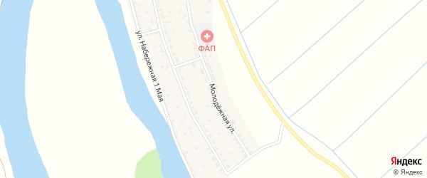 Молодежная улица на карте села Раздора с номерами домов