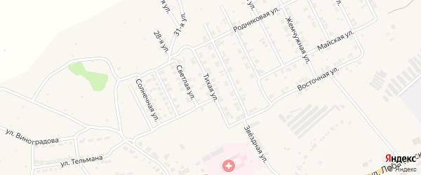 Тихая улица на карте Козловки с номерами домов