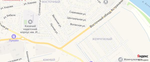 Началовская улица на карте села Началово с номерами домов