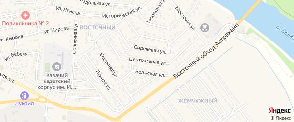 Центральная улица на карте села Началово с номерами домов
