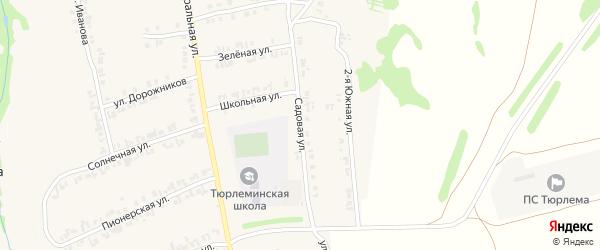 Садовая улица на карте станции Тюрлемы с номерами домов