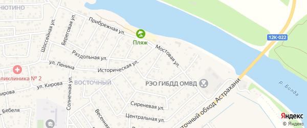Тополиная улица на карте села Началово с номерами домов