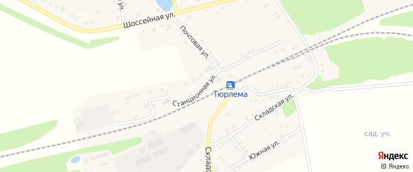 Станционная улица на карте станции Тюрлемы с номерами домов