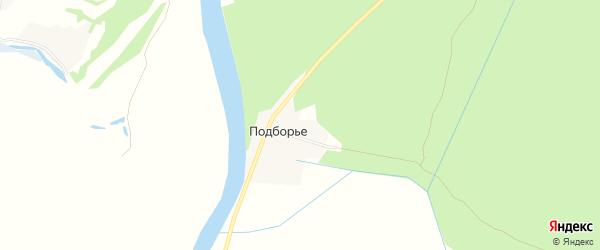 Карта деревни Подборья в Архангельской области с улицами и номерами домов
