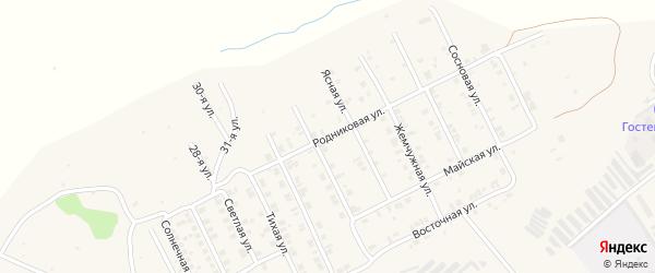 Родниковая улица на карте Козловки с номерами домов