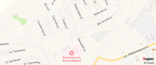 Звездная улица на карте Козловки с номерами домов