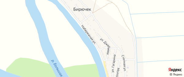 Набережная улица на карте села Бирючек с номерами домов