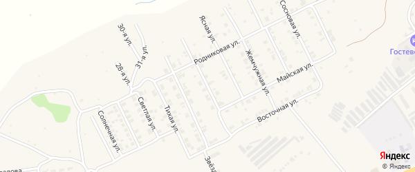 Рябиновая улица на карте Козловки с номерами домов