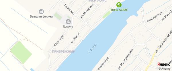 Набережная улица на карте поселка Начала с номерами домов