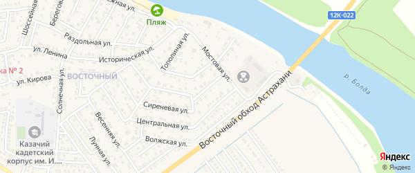 3-й Мостовой переулок на карте села Началово с номерами домов