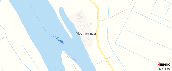 Набережная улица на карте Чилимный поселка с номерами домов