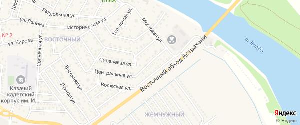 4-й Мостовой переулок на карте села Началово с номерами домов