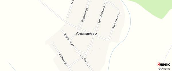 Абонентский ящик Верхняя на карте деревни Альменево с номерами домов