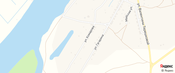 Улица Комарова на карте села Килинчи с номерами домов