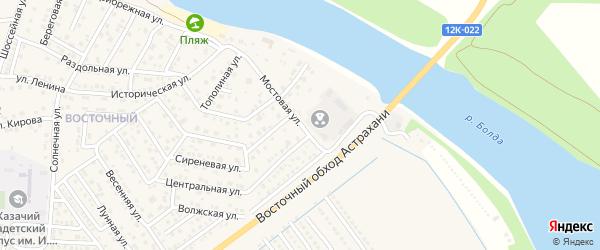 Мостовая улица на карте села Началово с номерами домов