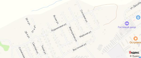 Жемчужная улица на карте Козловки с номерами домов