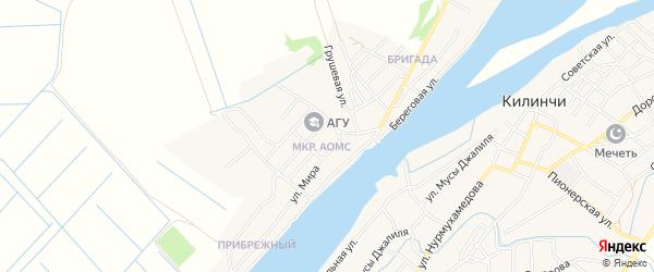 Карта поселка Начала в Астраханской области с улицами и номерами домов