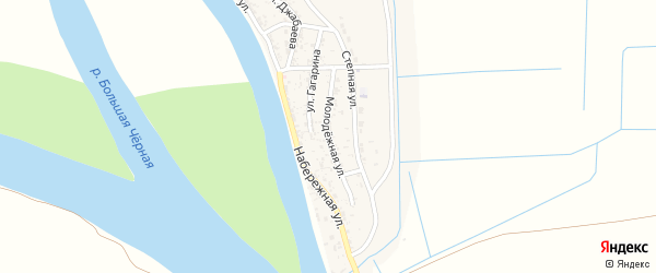Молодежная улица на карте села Бирючек с номерами домов