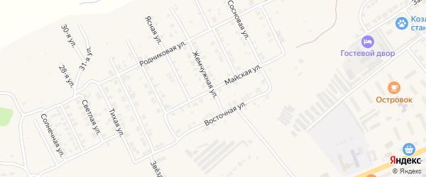 Майская улица на карте Козловки с номерами домов