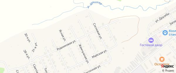 Северная улица на карте Козловки с номерами домов