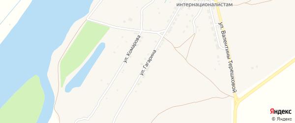 Улица Гагарина на карте села Килинчи с номерами домов
