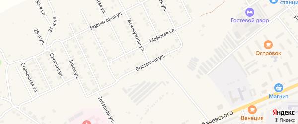 Восточная улица на карте Козловки с номерами домов