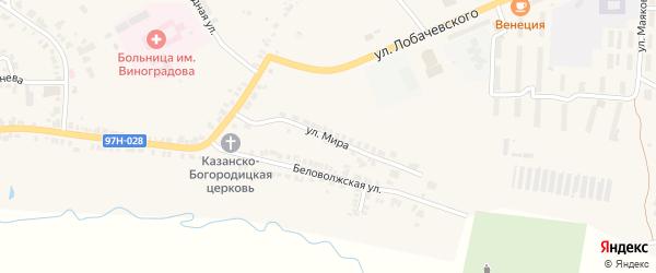 Улица Мира на карте Козловки с номерами домов
