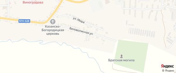 Беловолжский переулок на карте Козловки с номерами домов